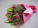 ちょっと豪華な花束♪「ピンク」