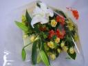 スプレーバラとユリの花束♪・イエロー