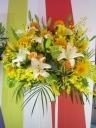 御祝スタンド1段 黄色×オレンジ