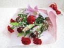 お母さんに感謝を込めて・ユリとバラの花束