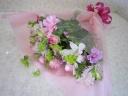 ユリとガーベラの花束♪