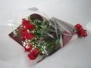 定番商品♪赤バラとカスミソウの花束