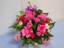 【敬老の日】明るいピンク系アレンジメント♪