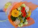 ブーケタイプ♪明るいイエローオレンジ系の花束