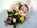 和洋花のお供え花束
