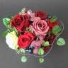赤いバラのプリザードフラワー