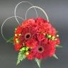 【母の日】赤いバラのまんまるアレンジメント