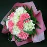 【母の日】グリーンとピンクのカーネーションブーケ