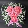 【母の日】ピンクのハートアレンジメント