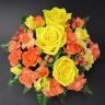 【母の日】黄色・オレンジのハッピーアレンジメント