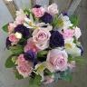 【母の日】ピンク・紫のアレンジメント