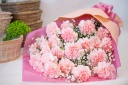 【母の日】 ピンクのカーネーション花束
