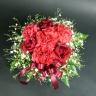 【母の日】赤バラのまんまるアレンジメント