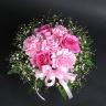 【母の日】ピンクバラのまんまるアレンジメント