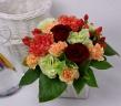 【母の日】赤バラとオレンジカーネーションアレンジ