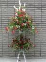 赤バラのスタンド花 【 サムライ 】