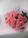 ピンクカーネーションの花束