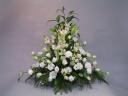 お供えアレンジメント ≪白バラ≫