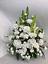 白いお花で
