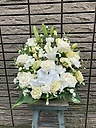白色のお花の御供アレンジメント【淡雪】