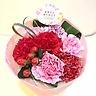 母の日ブーケ ピンクレッド系 花瓶付き