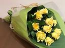 イエローローズの花束