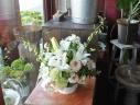 白いお花のアレンジメント