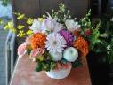 お悔やみのお花をかわいらしく。。