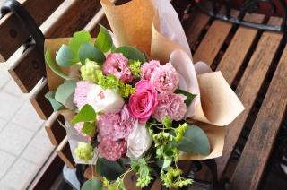 ピンクな花束♪