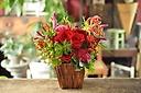 やっぱり人気者!赤いバラのアレンジメント