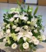 ご供花アレンジメント 白流