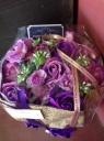 12輪のソープフラワーブーケ(Purple★)