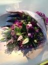 パープル系花束