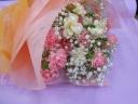 カーネーションのふわふわ花束