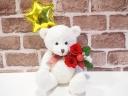 ベアプリザ☆星バルーン赤バラ☆ホワイト