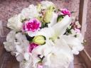 白ユリ・洋花の御供えアレンジメント