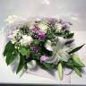 ホワイト・パープルの御供え花束