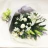 ホワイト・グリーンの御供え花束