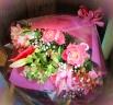 【花束】ユリとバラの豪華な花束