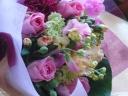 花束ピンク012