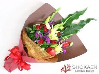 【花束032】季節の花のおまかせ花束(RY)