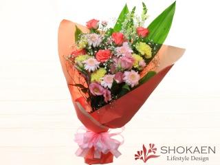 【花束483】季節のお花のおまかせ花束(LPY)