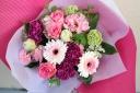 ピンクの花束T-010