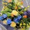 花束 イエロー&ブルー T-051