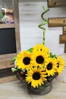 sunflower basket SU-015
