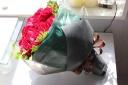赤バラ 20本 ブーケ風花束