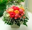 バラとカスミ草のアレンジ 【MIX】