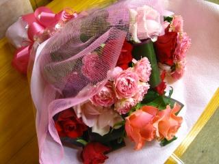 ピンク X レッド♪花束