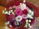 バラがきれいな花束♪