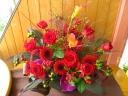 赤バラ+風情♪アレンジメント